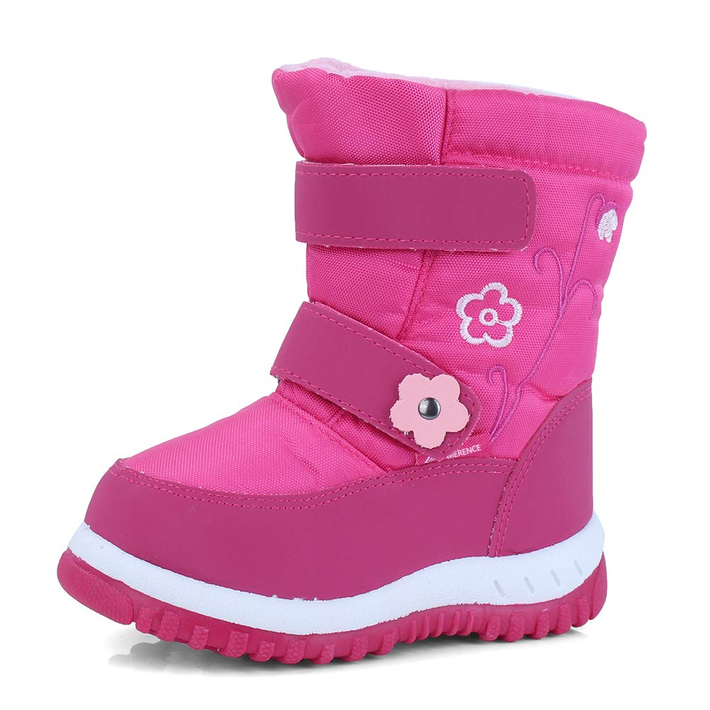 CIOR Winter Snow Boots for Boy and Girl Outdoor Waterproof with Fur Lined Toddler//Little Kids