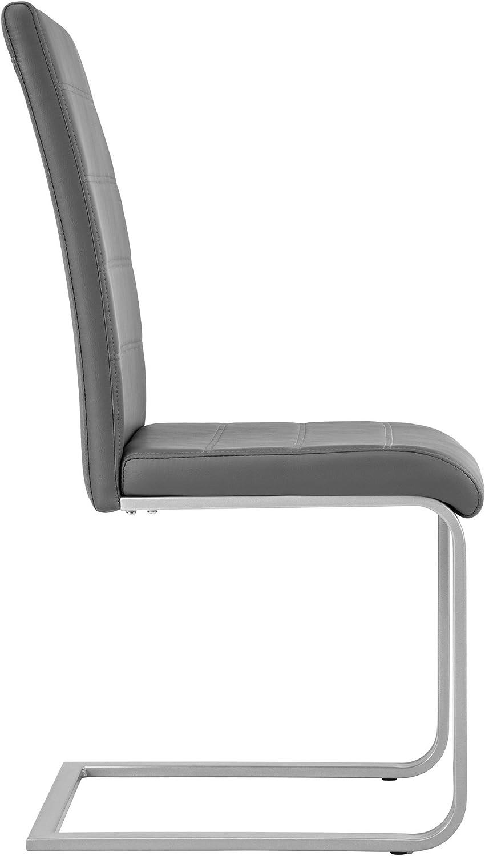 TecTake Set de sillas Cantilever de Comedor cantidades - (4X Gris | Nr. 402555) 4x Gris | Nr. 402555