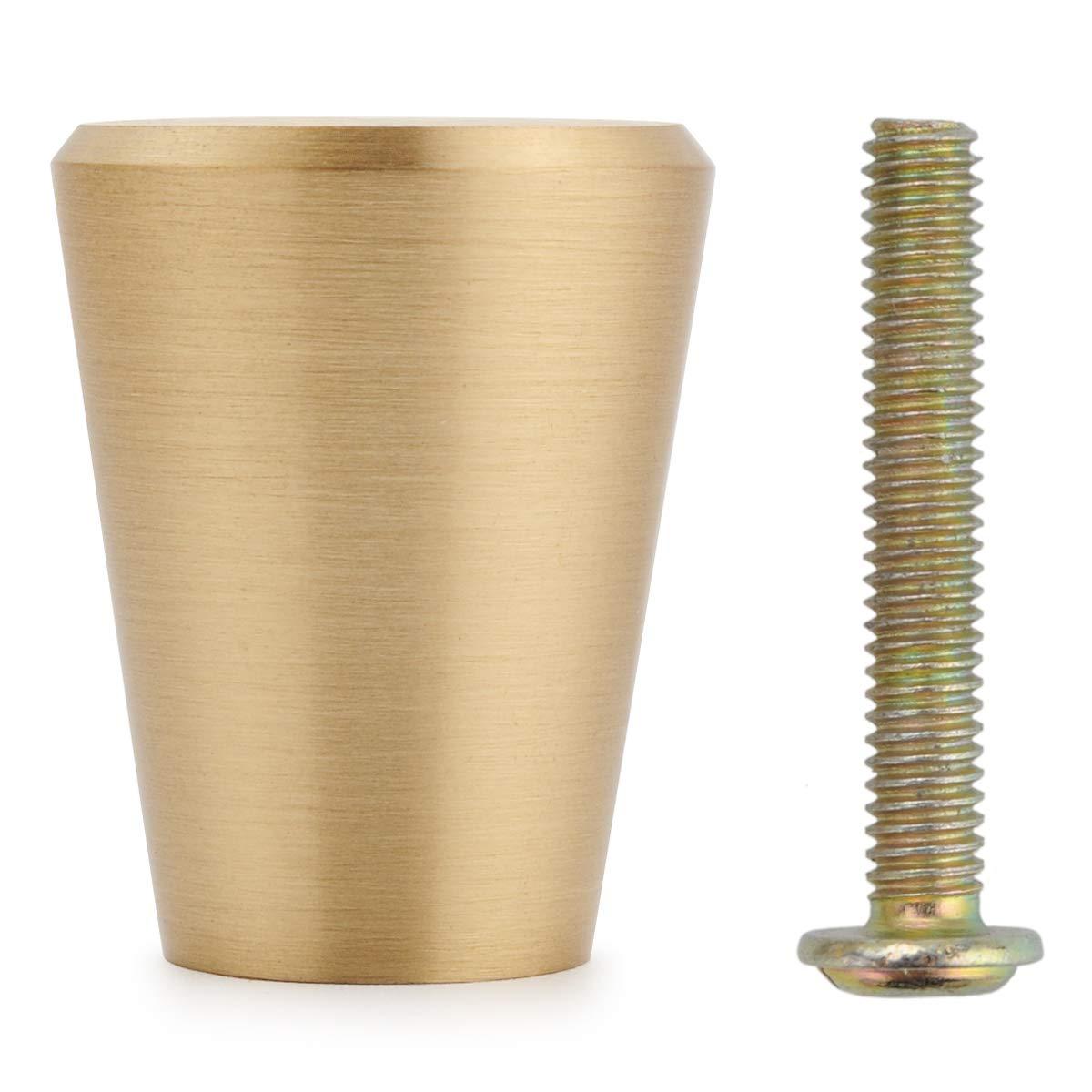 Cajones y C/ómodas Oro Estilo champi/ñ/ón 25mm 10 Piezas S/ólido Lat/ón Pomos para Armario Tiradores Cajones Cocina para Puertas