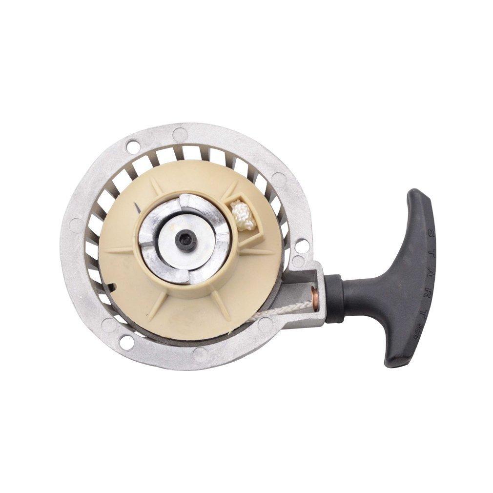 GOOFIT Pull Start Recoil Starter for 40-6 Pocket Pit Bike Silver Type C K070-502