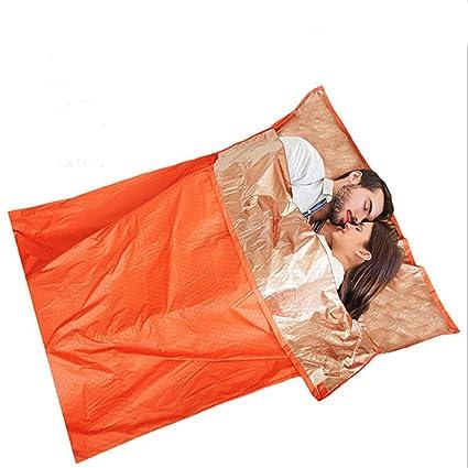 Bivvy camping doble de emergencia médica de supervivencia aventura saco de dormir