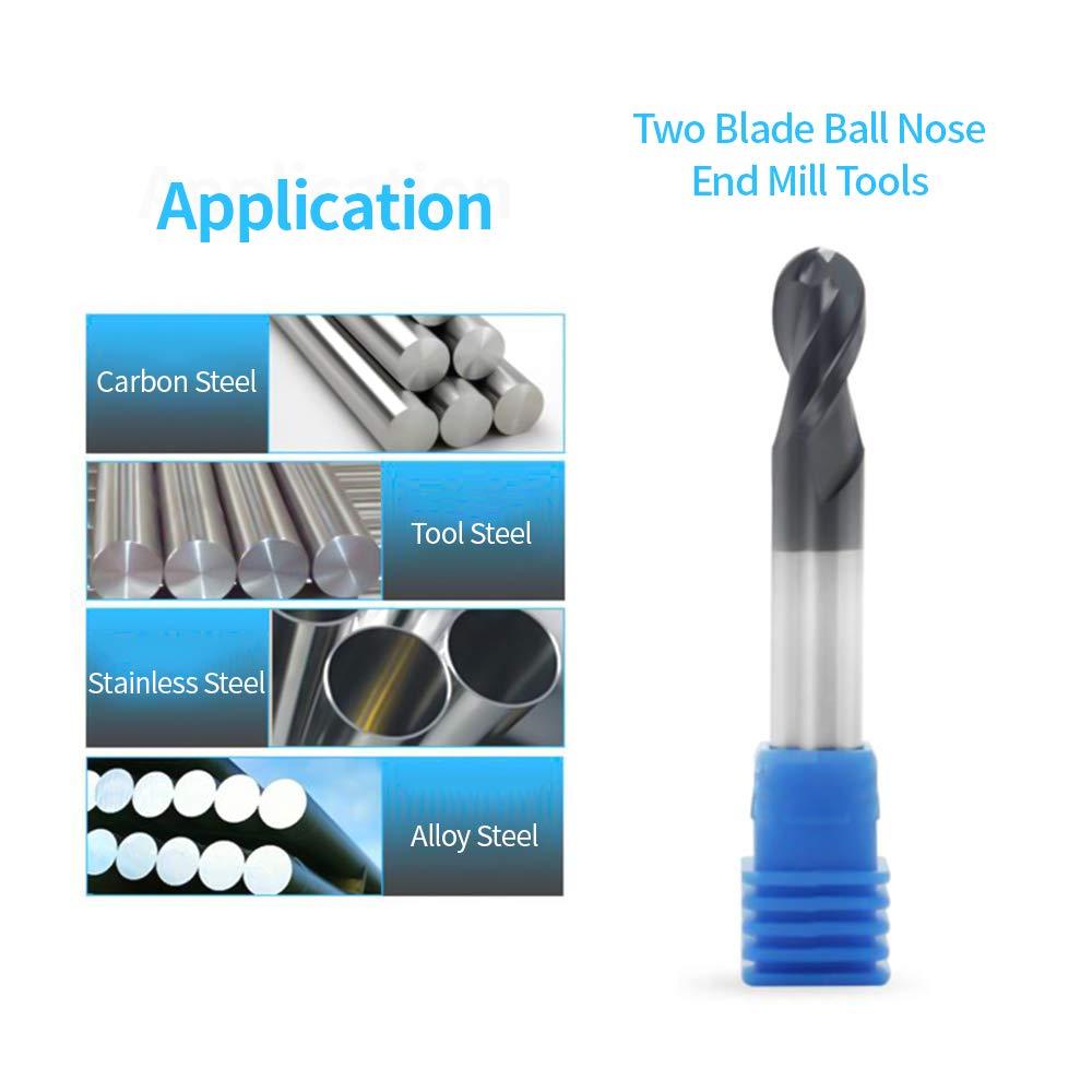 6pcs End mill Set Accessory Ball nose Cutting Drill bit 1mm-6mm Practical