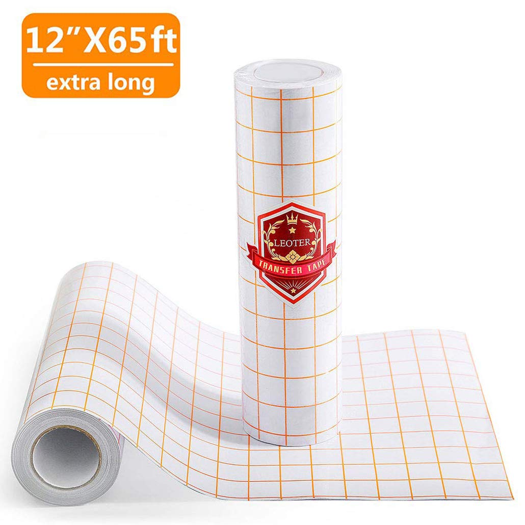 6 x 50 FT Frisco Craft Transfer Roll Clear Lay Flat Application Tape Perfect for Self Adhesive Vinyl for Signs Stickers Decals Walls Doors Window