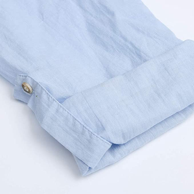 ❤ Blusa para Mujeres, Retro Manga Larga Casual Blusas de Botones Sueltos Blusa Mini Camisa Blusa Tops 3/4 Camiseta de Manga Absolute: Amazon.es: Ropa y ...