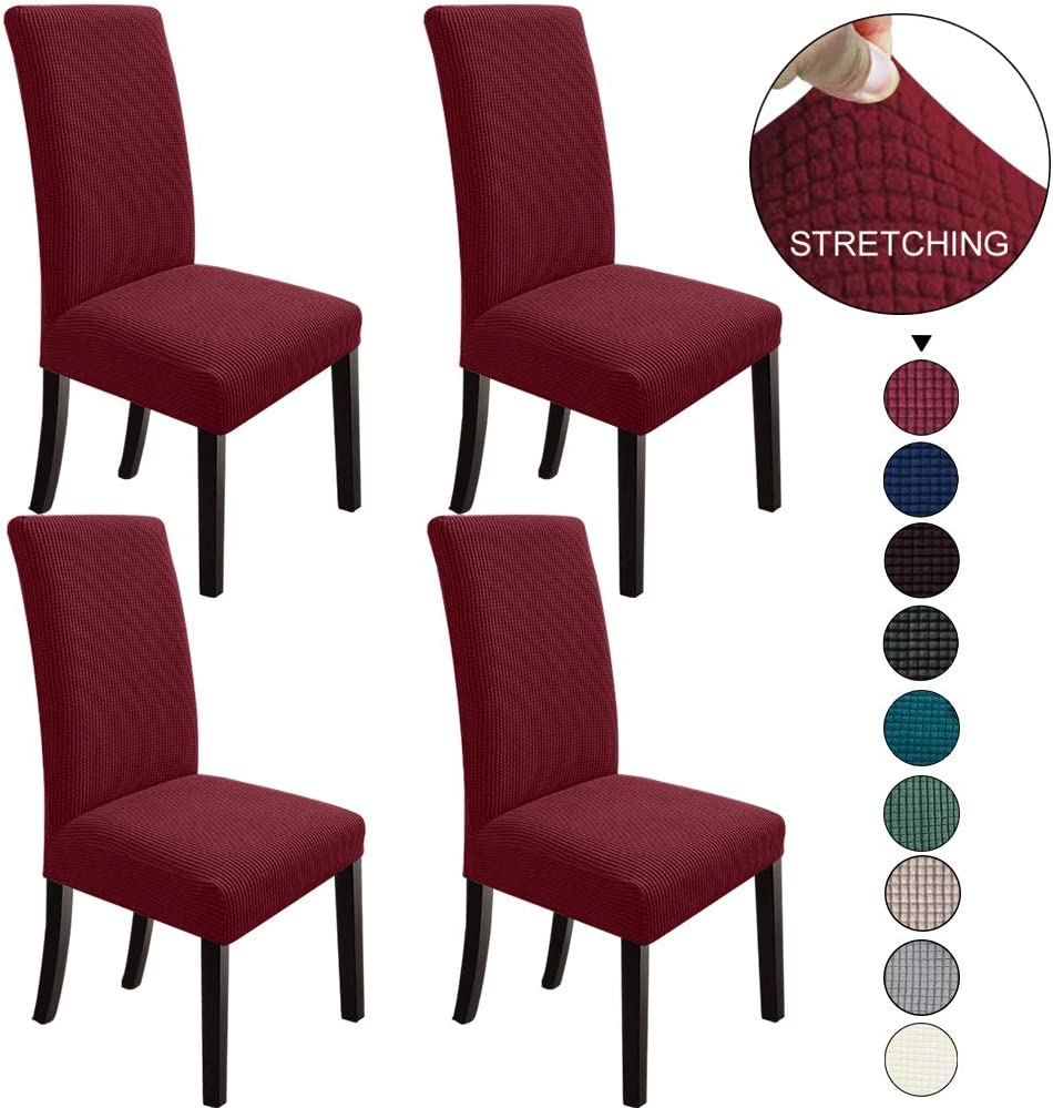 NORTHERN BROTHERS Dining Chair Covers Dining Room Chair Slipcovers Parsons Chair Slipcover Chair Covers for Dining Room