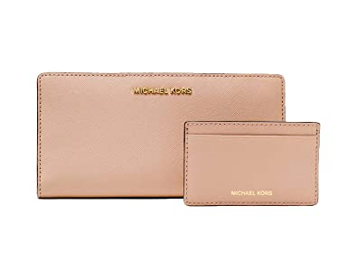 a3291e124953 Amazon.com: MICHAEL Michael Kors Large Saffiano Leather Slim Wallet: Shoes