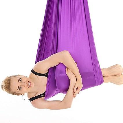 Luckyin Auricular de Yoga Aéreo Swing Flying Hammock Set ...