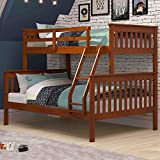 Nidoo Mission Twin / Full Bunk Bed In Espresso (AM_KBB_19)