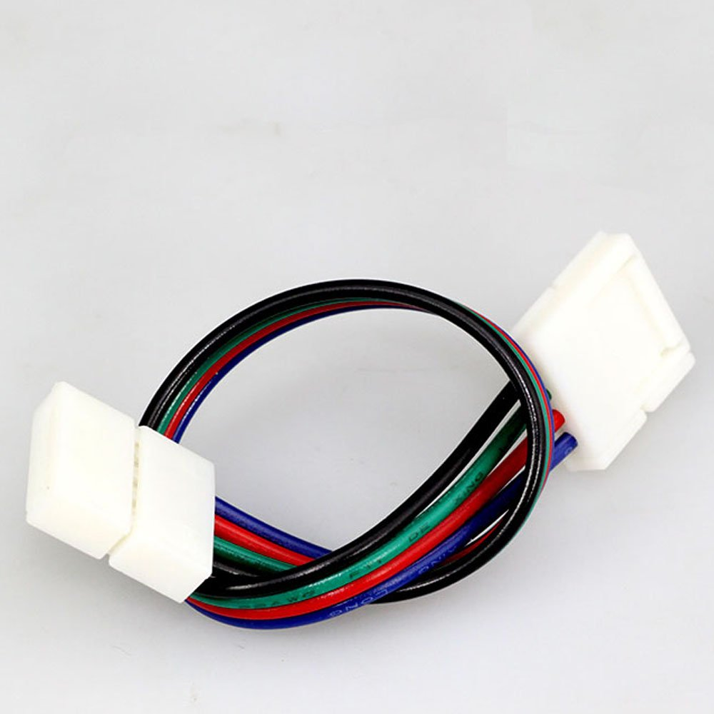 Evz 10pcs Led 5050 Rgb Strip Light Connector 4 Pin Conductor 10 Mm Wiring Wide To Jumper