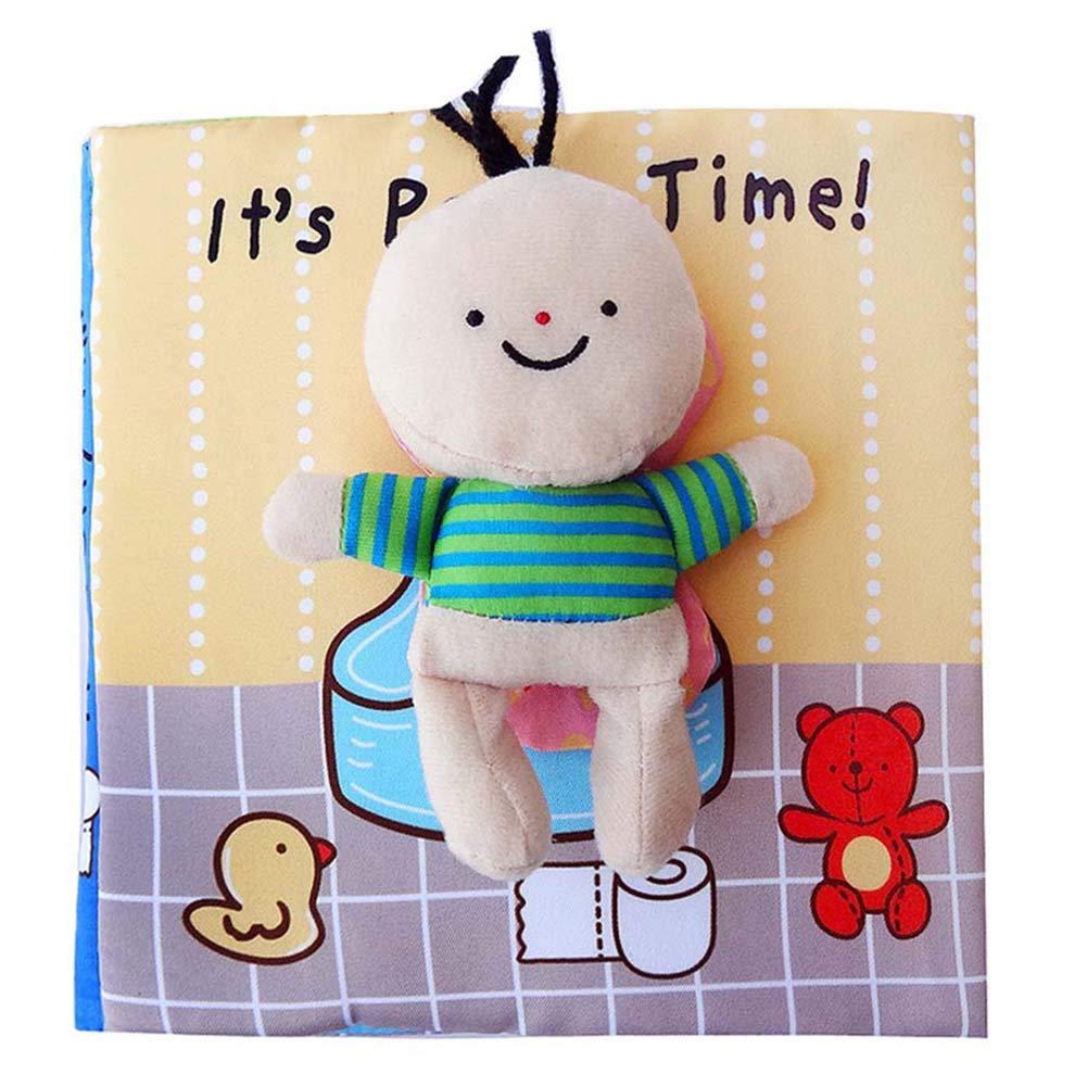 Scrox 1x Libros de Tela para Bebes ilustracion Libro Educativo Bebe 0-1-3 años Bañarse Inglés Libros Blandos Regalos para Bebes Juguete Interactivo 18 ...