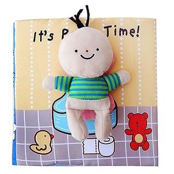 Scrox 1x Libros de Tela para Bebes ilustracion Libro Educativo Bebe 0-1-3 años Bañarse Inglés Libros Blandos Regalos para Bebes Juguete Interactivo (IR al ...