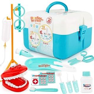 Xiaogang Il Giocattolo del Dentista di Simulazione del Medico ha Messo Il Giocattolo del Regalo di Compleanno della Ragazza e del Ragazzo da 3-5 Anni (Colore : Rosa)