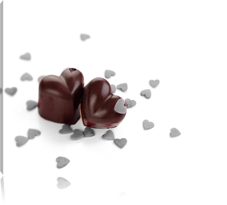 Chocolate corazones negro/blanco lienzo, XXL enormes ...