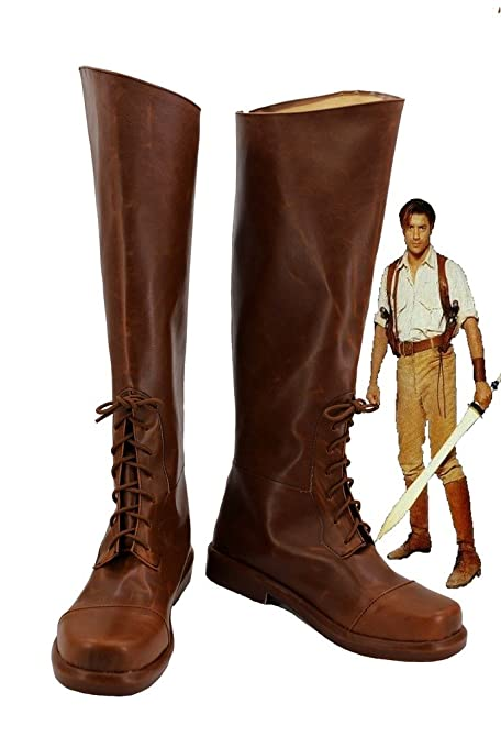 The Mummy Rick OConnell Cosplay Shoes Boots Custom Made