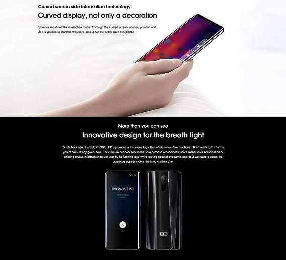 elephone U Pro 4 G Smartphone entsp errten Curvada de la Pantalla ...