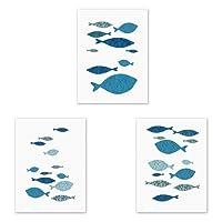 Dabixx forma di pesce tela pittura a olio immagine arte della parete stampe su tela moderna immagini a parete per soggiorno senza cornice