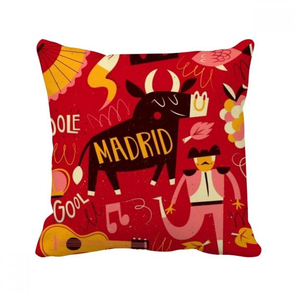 Amazon.com: DIYthinker Madrid - Funda de cojín cuadrada para ...