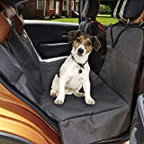 MEGA PET Pet Car Seat Cover Protector with Viewing Window and Side Flaps - Hammock Convertible - Waterproof & Durable - Nonslip Backing(Standard)