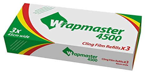 Wrapmaster 4500 cling film refills 45cm x 300m (3) by Wrapmaster
