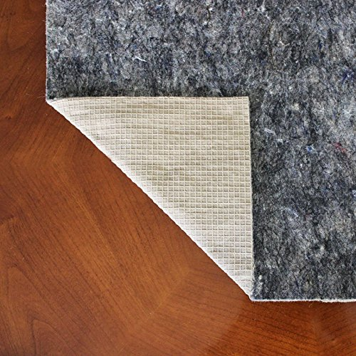 10x14 Premium Non Slip Rug Pad - Felt and Rubber Area Rug Pad - Anchor-Grip 22 ®-Made in the USA by Rug Pad Central