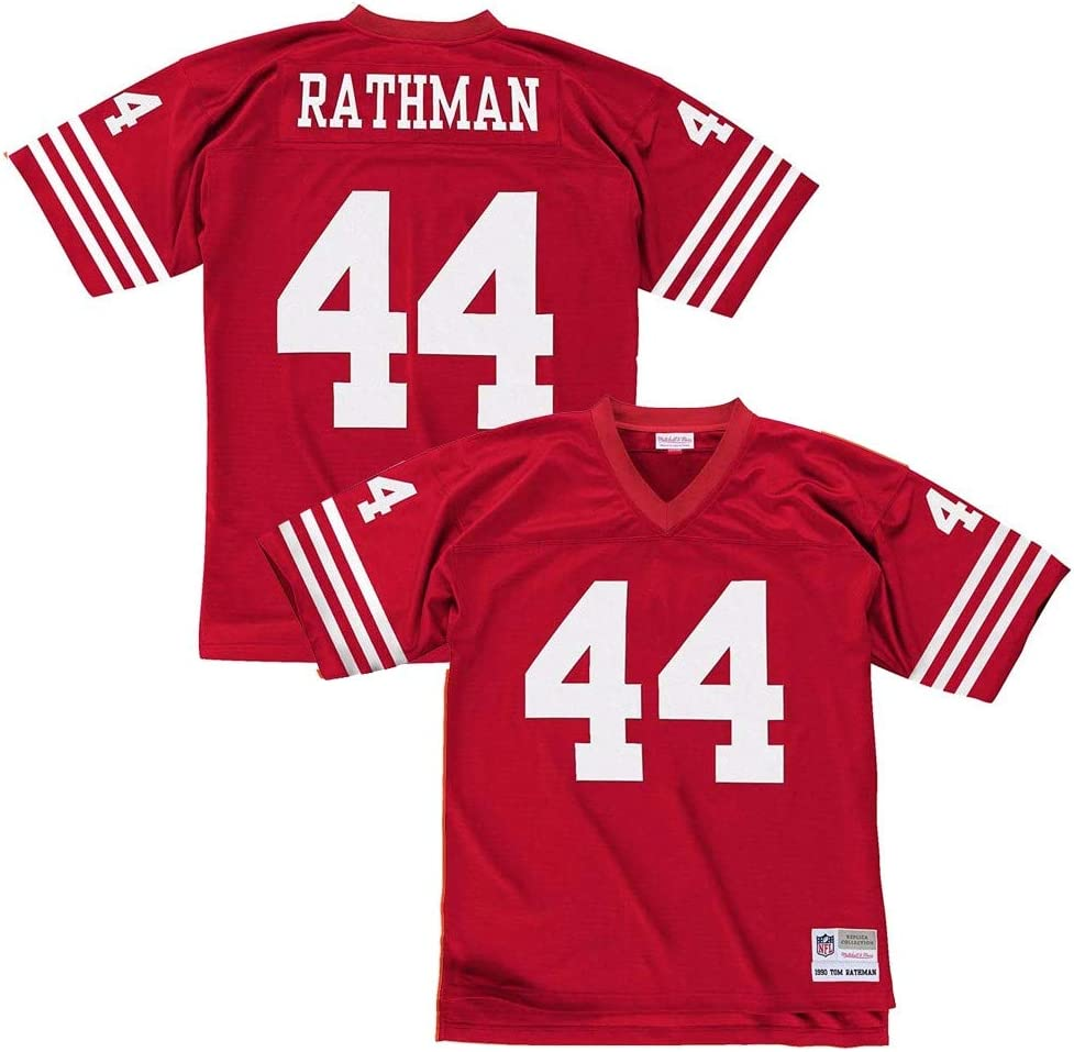 Amazon Com San Francisco 49ers Tom Rathman Nfl Official Throwback Retro Jersey By Mitchell Ness Men S Medium Clothing