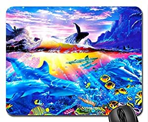 Amazing Sea Mouse Pad, Mousepad (Dolphins Mouse Pad) by mcsharks