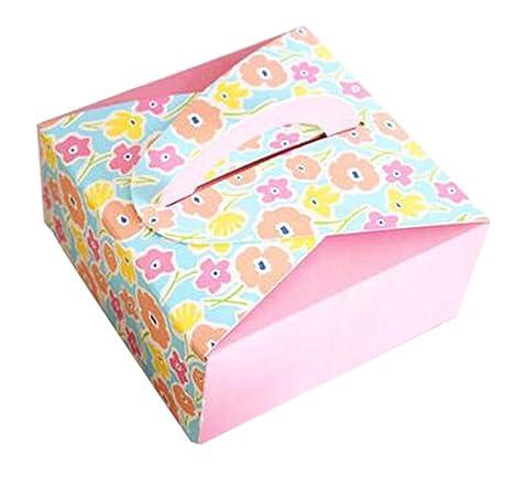 Black Temptation Conjunto de 10 Plaza Linda Galletas para Hornear Box Cajas para empaque de Alimentos