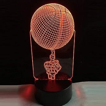 Regalo Creativo Para Niños Figura Media Top Baloncesto 3D Rbg ...