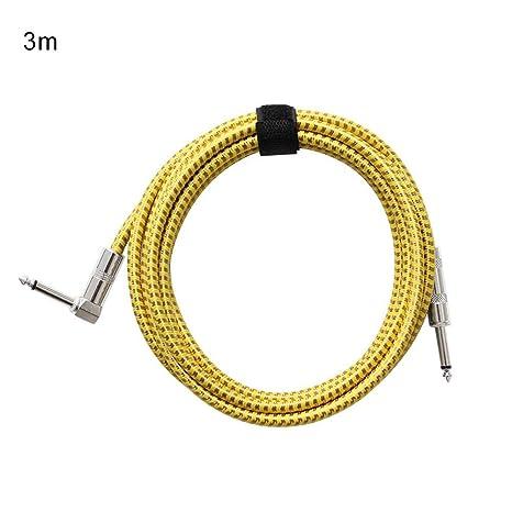 happygirr Cable para Guitarra,bajo de 3 m / 6 m para Guitarra/bajo