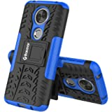 Bracevor Shockproof Hybrid Kickstand Back Case Defender Cover For Motorola Moto E5 Plus Blue
