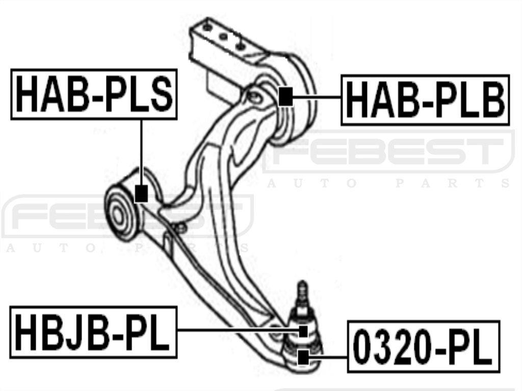 FEBEST HAB-PLB Control Arm Bushing
