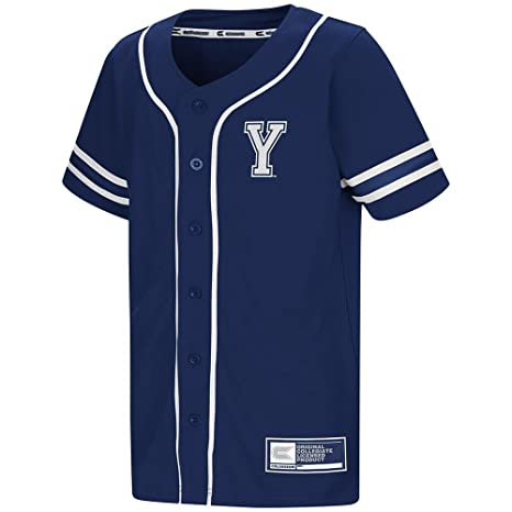 new arrivals ce179 b276c Amazon.com: Youth BYU Cougars Baseball Jersey - L: Sports ...