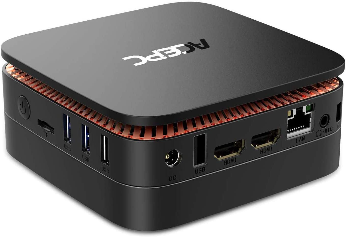 ACEPC AK1 Mini PC,6GB RAM + 120GB SSD,Intel Celeron J3455,Windows 10 (64 bits) Ordenador, Soporte mSATA/2.5 '' SSD/HDD/4K/2.4G+5G Band WiFi/Gigabit Ethernet/Bluetooth 4.2