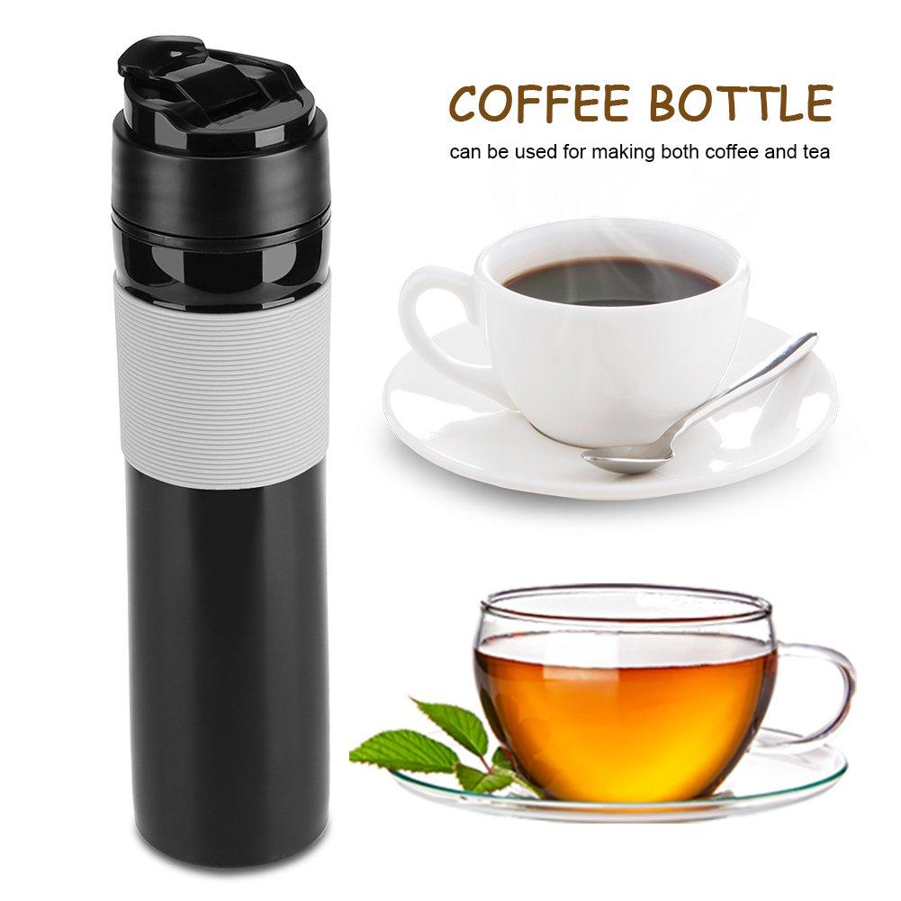Portable Mini Espresso Maker Hand Held Pressure Caffe Espresso Machine Compact Manual Coffee Maker for Home Office Travel Outdoor(Black) by Fdit (Image #7)