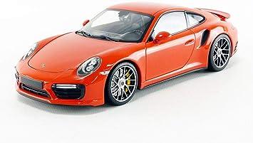 Minichamps 110067120 1 18 2016 Porsche 911 Turbo S Auto Orange Spielzeug