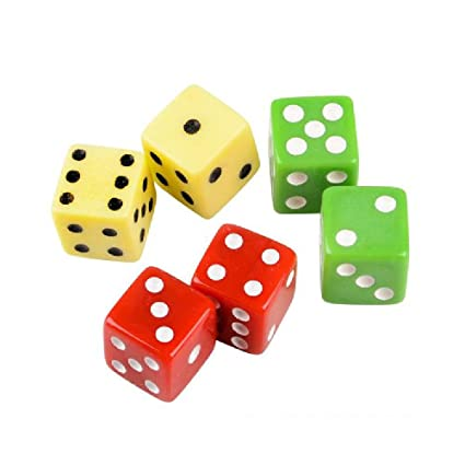 Amazon com: Lucky Dice (With Sticky Notes): Toys & Games