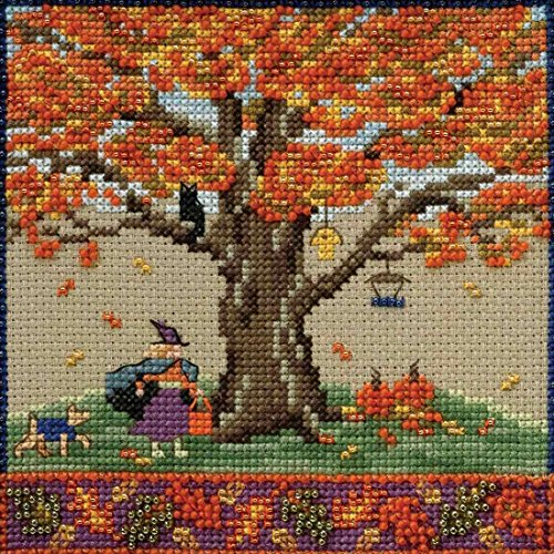 Fall Oak Beaded Counted Cross Stitch Kit Mill Hill 2017 Migh