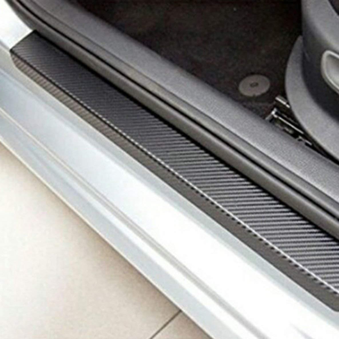 Noradtjcca 3D-Auto-T/ür-Schutzstreifen Kratzschutz Car Crash Barriers T/ür Wache Kollision Carbon-Faser-Auto-Aufkleber