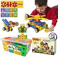 ETI Toys   Aprendizaje STEM   Juego de bloques de construcción de ingeniería de construcción de 101 piezas originales para niños y niñas de 3, 4 y 5 años o más   Kit de diversión creativa   El mejor regalo de juguete para niños de 3 años a 6 años