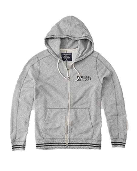 Abercrombie & Fitch New Grey Lightweight Full-Zip Hoodie Cardigan ...