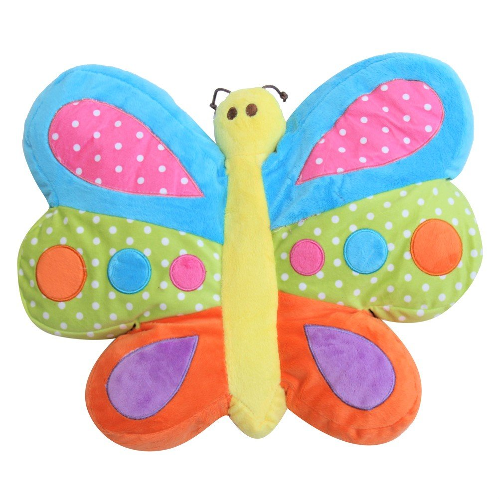 Snuggle Stuffs Brilliant Butterfly 16'' Minky Plush Throw Pillow