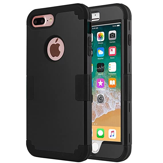 new products c23b1 5dc3c iPhone 8 Plus Case, iPhone 7 Plus Case, Anuck Heavy Duty Protection iPhone  7 Plus Shockproof Rubber Bumper Protective Case Hybrid Armor Defender Cover  ...