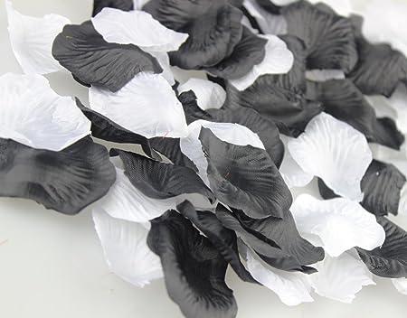 Pétalos De Rosas De Seda Bodas Confeti de mesa Negro