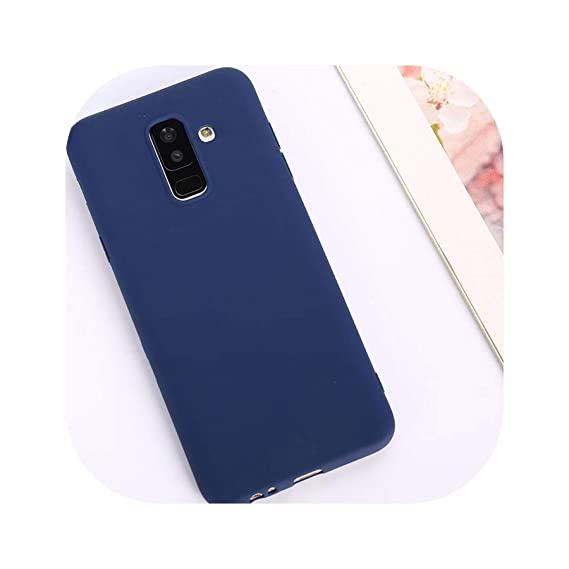 Candy Color Case for Samsung Galaxy A50 A70 A5 2017 J4 J6 Plus J8 A8 A6 A7 2018 S8 S9 S10 Plus S10E Note9 M20 Soft Cover,Navy,Hey