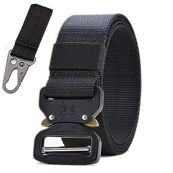 ZheTianmios Cinturón de Nylon Militar táctico Hombres Cinturón de Estilo del ejército Hebilla de Metal automática Correa de Cintura SWAT Caza: Amazon.es: ...
