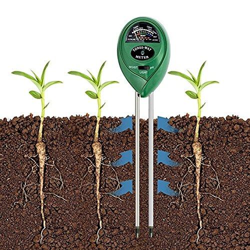 No Battery Needed kairuigeli 3-in-1 Soil pH Meter Tester Moisture Plant Soil Light and PH Acidity Tester