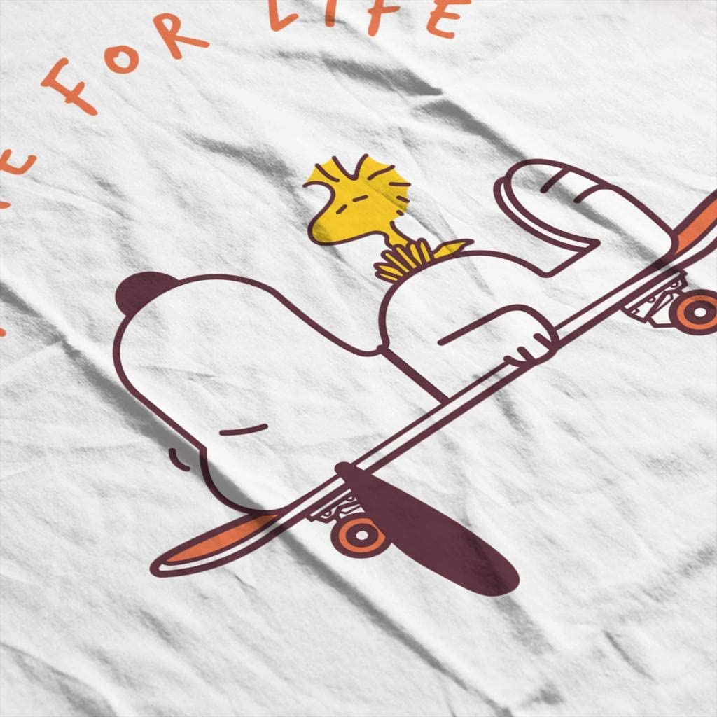 Skate For Life Snoopy and Woodstock Peanuts Womens Hooded Sweatshirt