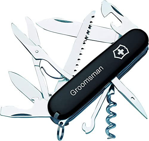 Personalized Huntsman Black Swiss Army Knife by Victorinox