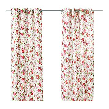 Ikea Rosali   Gardinenschal 2x   Seitenschal   Gardinen mit Rosen