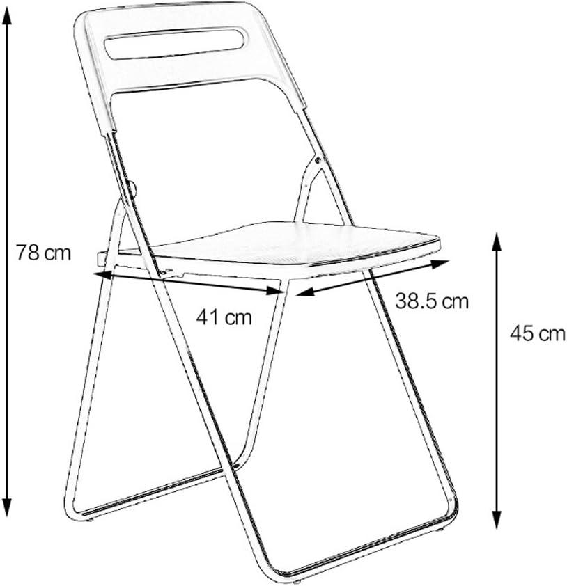 WDX- Chaise pliante simple chaise maison à manger chaise mode (Color : C) E